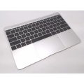 "661-02242 MacBook 12"" A1534 Retina Top Case with Keyboard, Silver"