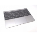 "661-02243 MacBook 12"" A1534 Retina Top Case Keyboard, Space Gray"