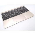 "661-02280 MacBook 12"" A1534 Retina Top Case Keyboard, Gold"